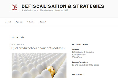Defiscalisation & Strategies Paris